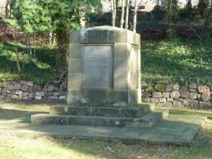 Kriegerdenkmal auf dem alten Friedhof, Einweihung 1922